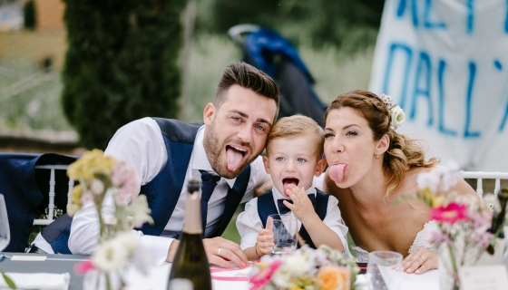 Un matrimonio children friendly